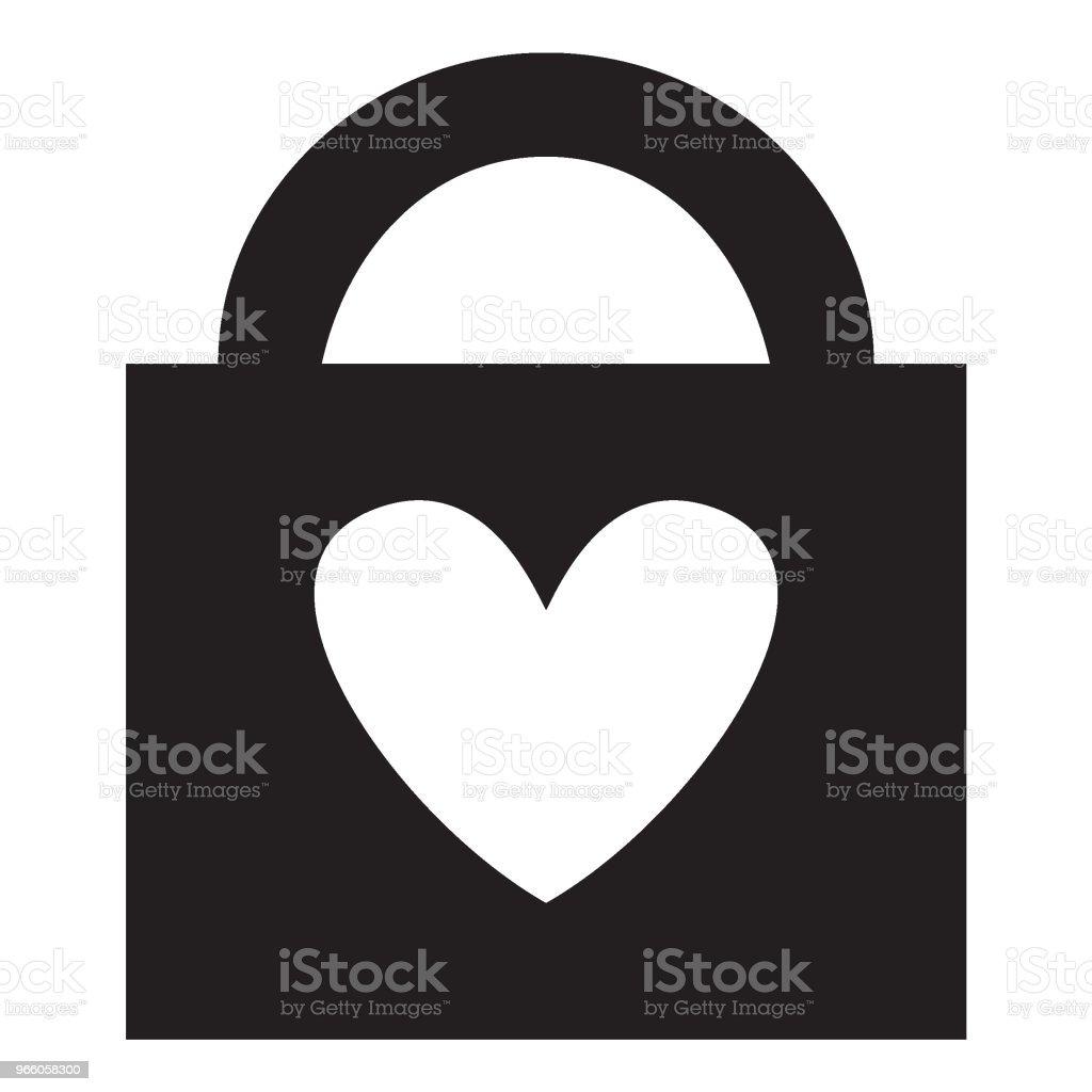 запертое сердце - Векторная графика Векторная графика роялти-фри