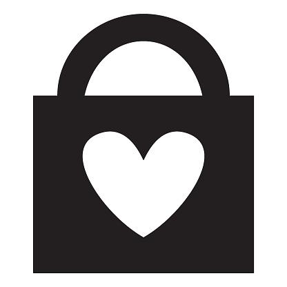 Locked Heart — стоковая векторная графика и другие изображения на тему Векторная графика