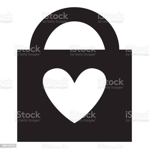 Запертое Сердце — стоковая векторная графика и другие изображения на тему Векторная графика