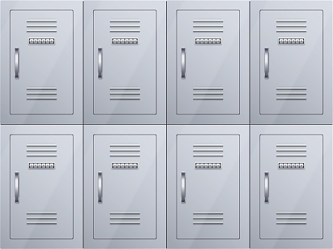 Lockers cabinets at the station