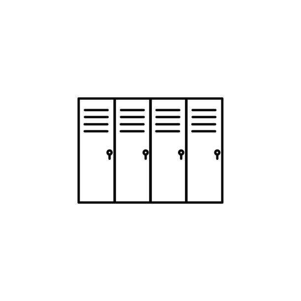 lockers icon vector art illustration