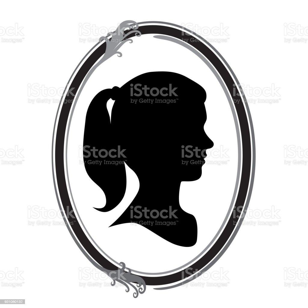 Médaillon Portrait - Illustration vectorielle