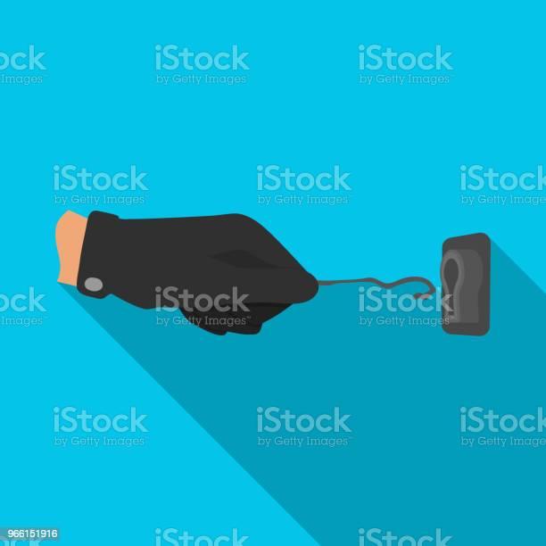 Локпик В Руке Преступника Latchkey Вор Инструмент Преступление Одной Иконки В Плоском Стиле Вектор Символ Фондовых Иллюстрации Веб — стоковая векторная графика и другие изображения на тему Векторная графика