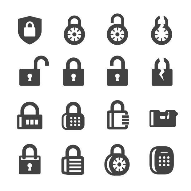 Locks Icons - Acme Series Locks, locking stock illustrations