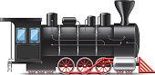 Locomotive isolated on white photo-realistic vector illustration