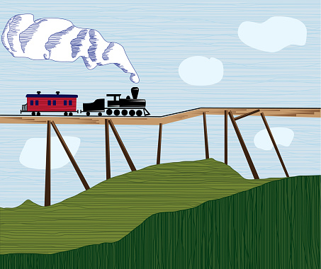 Locomotive on a wobbly bridge