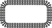 locomotive railroad top wiev track frame rail transport background border