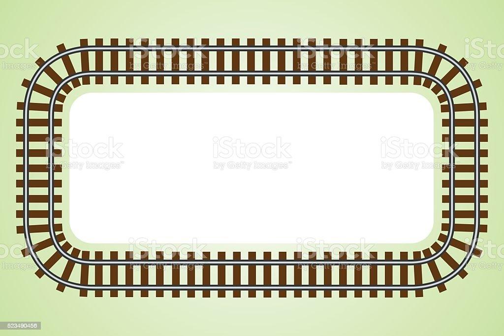 Lokomotive Bahngleis frame Grenze Vektor-illustration – Vektorgrafik