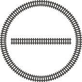 locomotive railroad track frame rail border