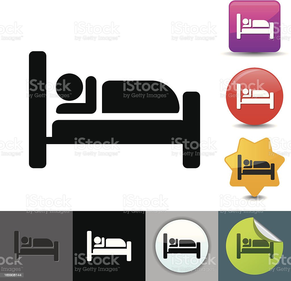 Lodging icon | solicosi series royalty-free stock vector art