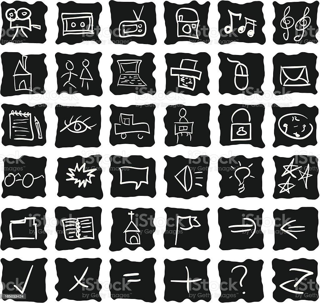 Lo-Fi Media Icons & Symbols ( Vector ) royalty-free lofi media icons symbols stock vector art & more images of arrow symbol