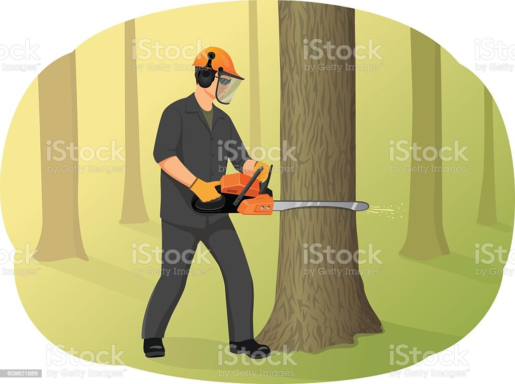 Logger vector art illustration