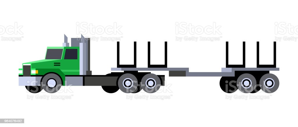 Logging truck trailer - Royalty-free Abstract stock vector