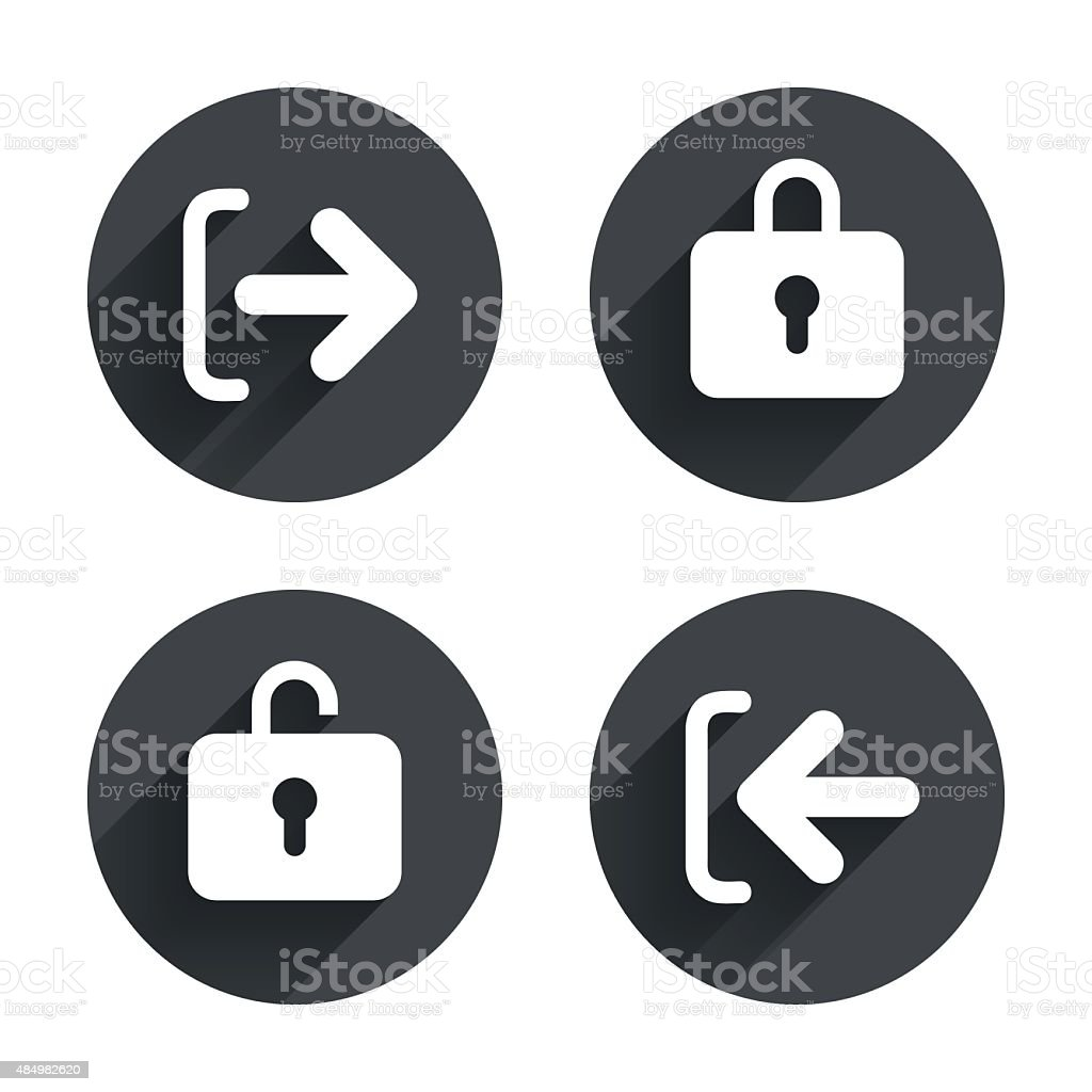 Login And Logout Icons Sign In Icon Locker Stock