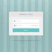 Login box form ui interface element, signin screen