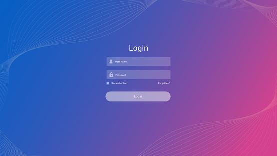Login form user interface vector