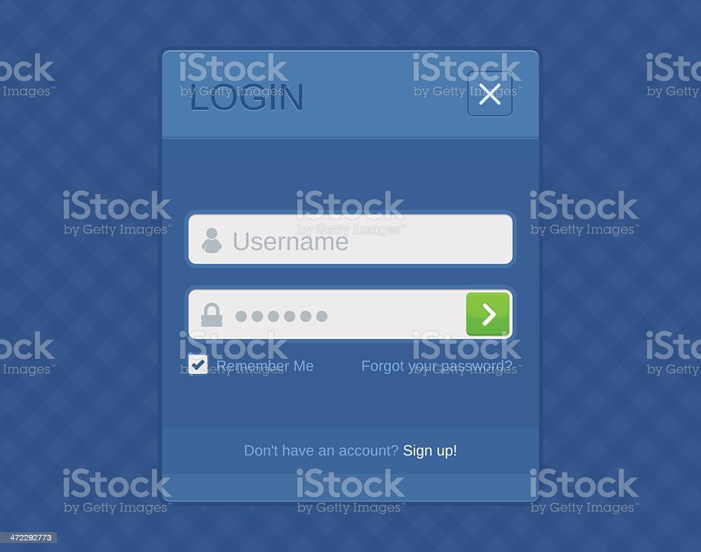 Login form royalty-free stock vector art