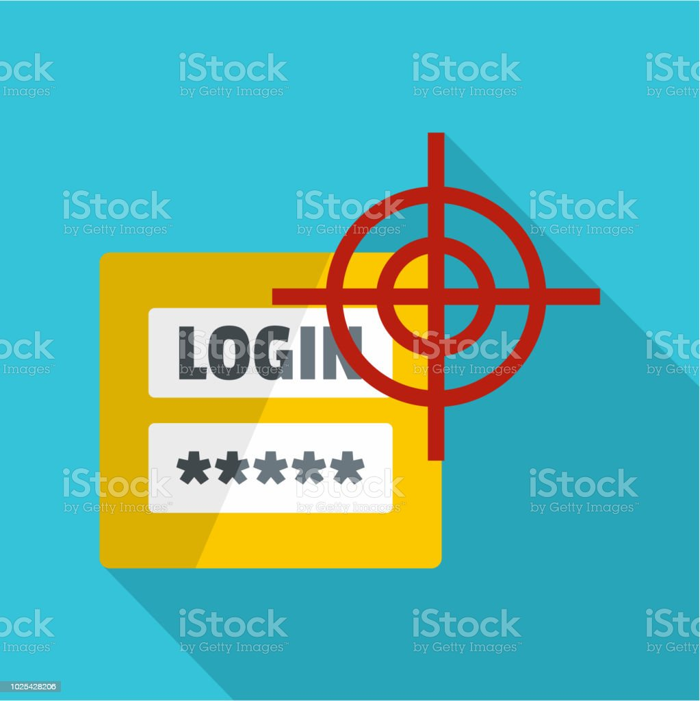 Login Icon Flat Style Stock Vector Art & More Images of