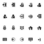 Login icon set