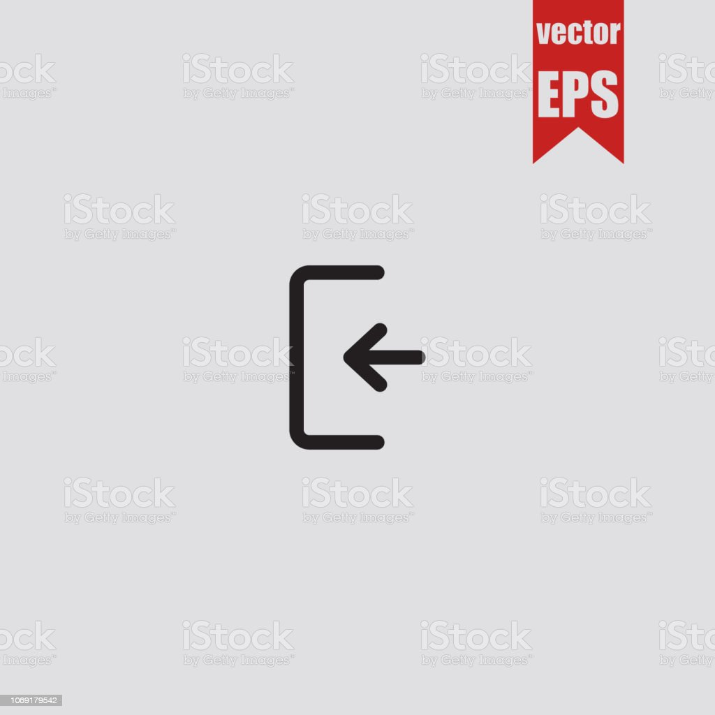 Login Iconvector Illustration Stock Vector Art & More Images