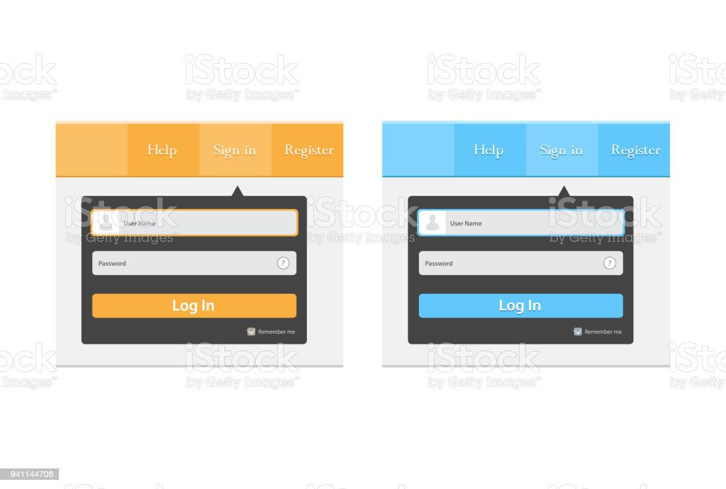 ログイン ユーザー インターフェイスweb 要素テンプレート ウィンドウに