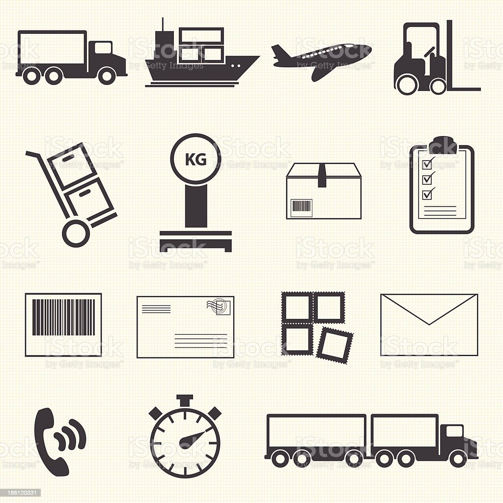Logistic and shipping icon set. vector art illustration