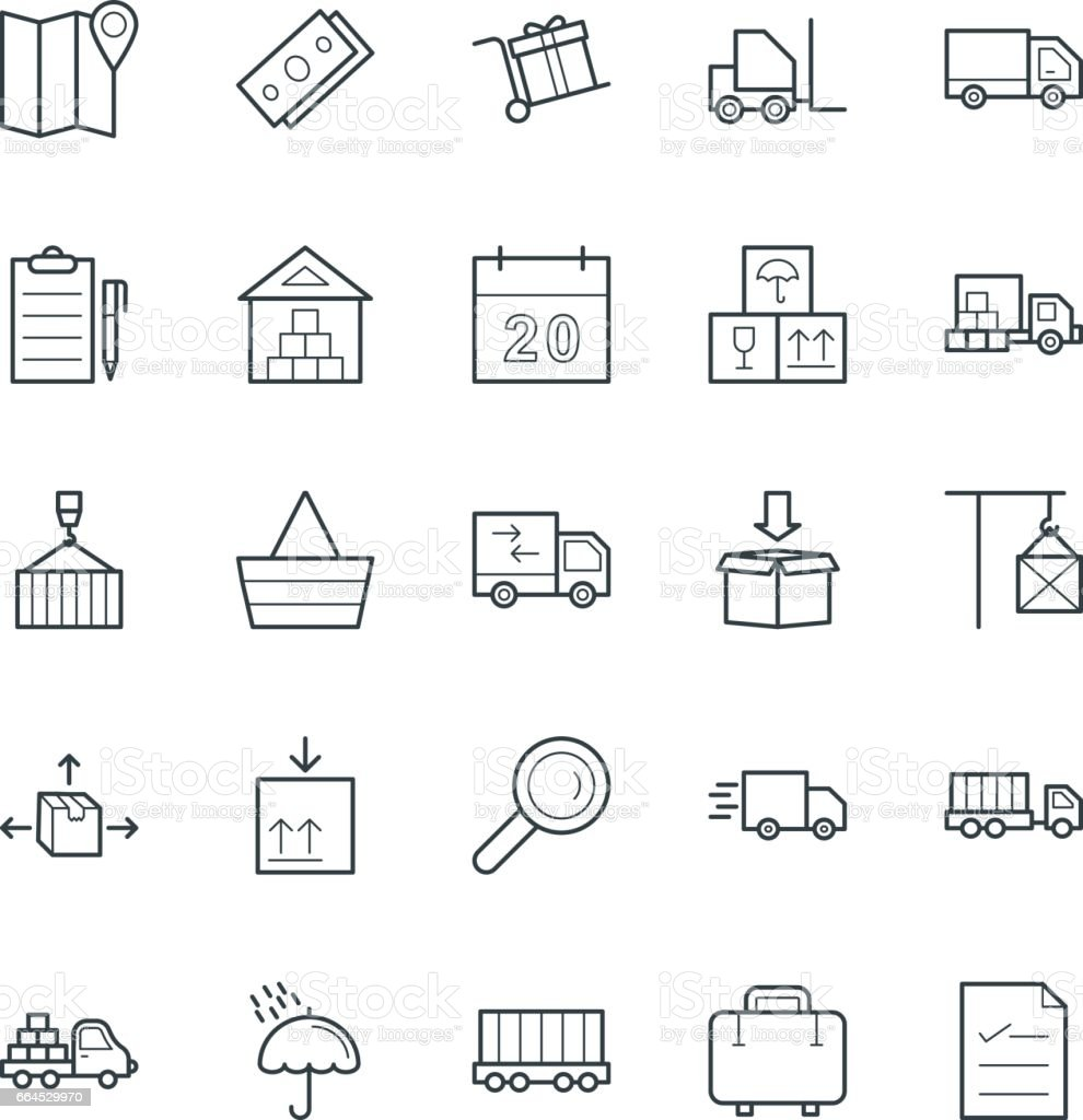 Logistic Delivery Cool Vector Icons 1 royalty-free logistic delivery cool vector icons 1 stock vector art & more images of business finance and industry