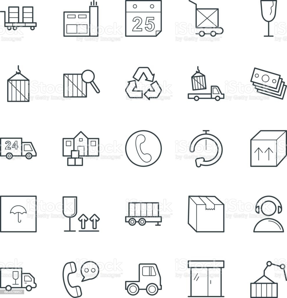 Logistic Delivery Cool Vector Icons 3 royalty-free logistic delivery cool vector icons 3 stock vector art & more images of 24 hrs