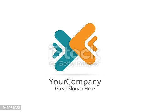 istock logistic delivery courier service logo. money finance connection concept design. abstract arrow symbol 945964036