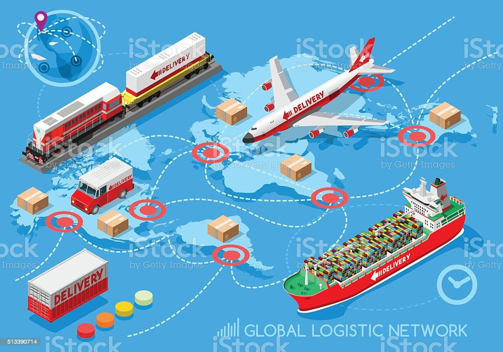 Logistic Icon 03 Vehicle Isometric vector art illustration