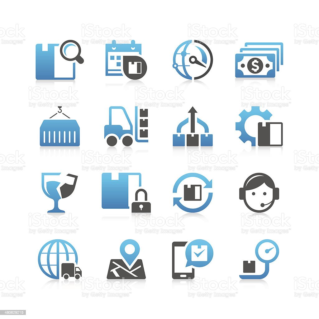 Logistic Icon Set | Concise Series vector art illustration