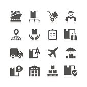 Logistic Icon Set | Unique Series