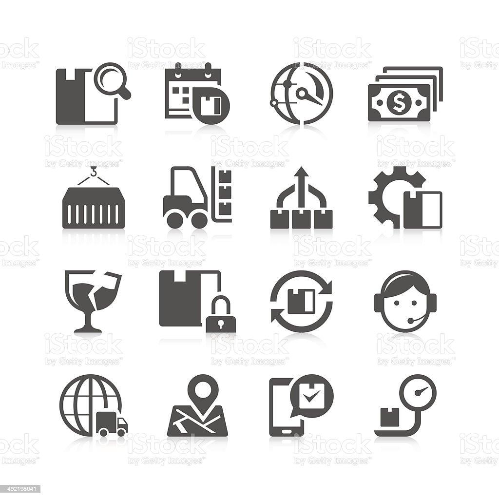 Logistic Icon Set | Unique Series vector art illustration