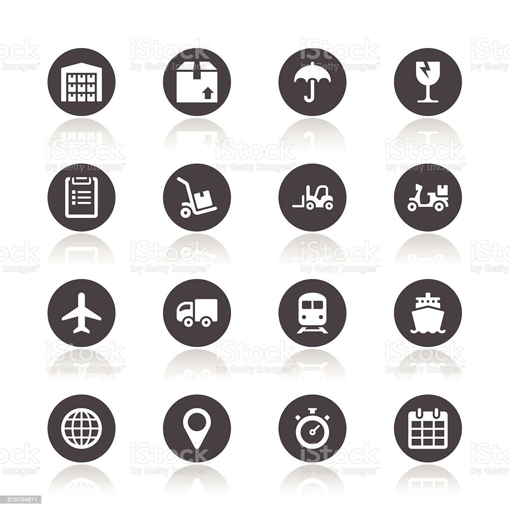 Ikony logistyczne - Grafika wektorowa royalty-free (Bez ludzi)