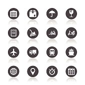 Logistic icons set, vector illustration