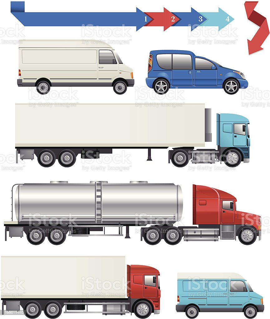 Logistic Transport vector art illustration