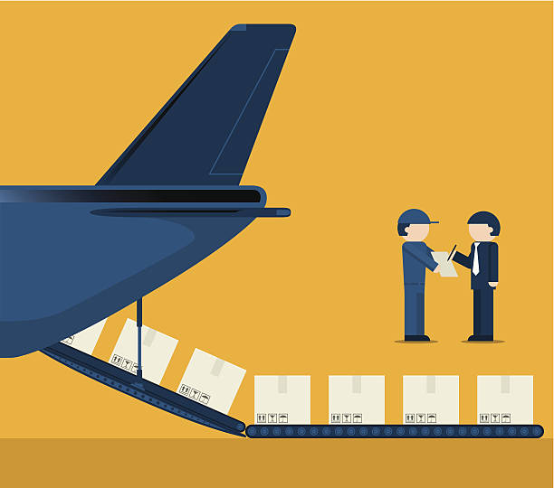 Best Air Freight Illustrations Royalty Free Vector