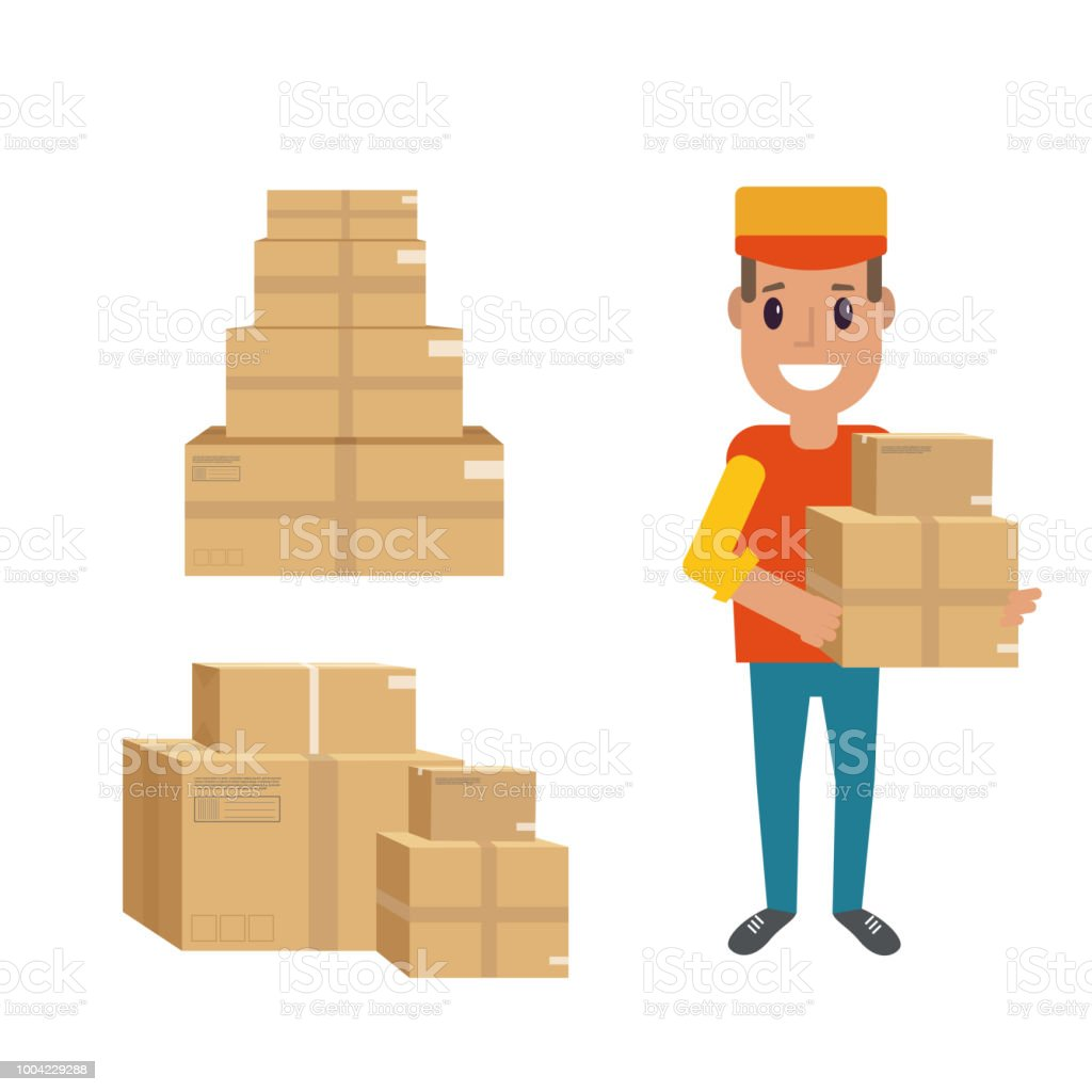 Logistics And Delivery Icon Service Of Shipping Cargo With Packa