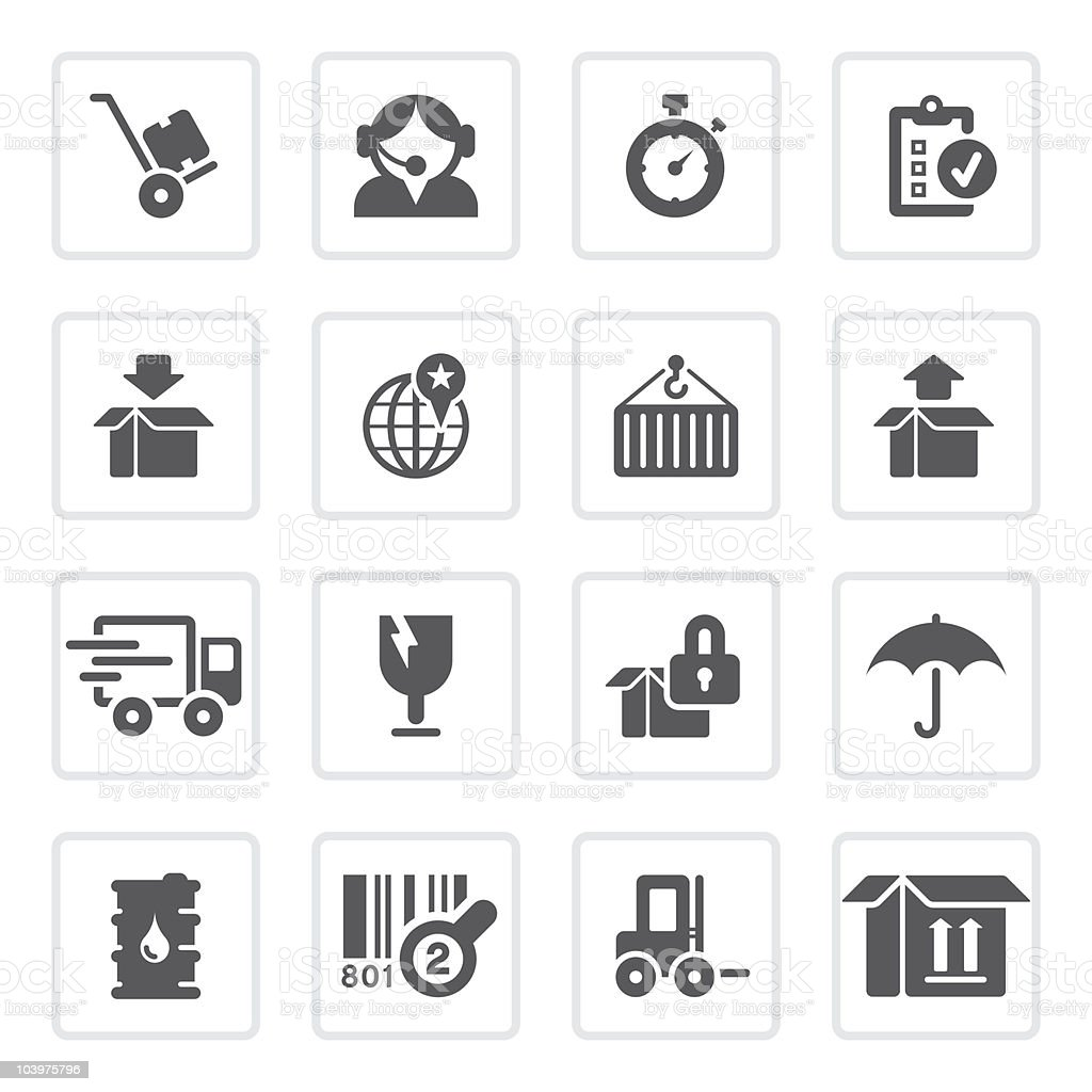 Logistics and shipping icons | prime series royalty-free stock vector art