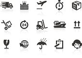 Logistics and shipping related vector icons for your design or application.