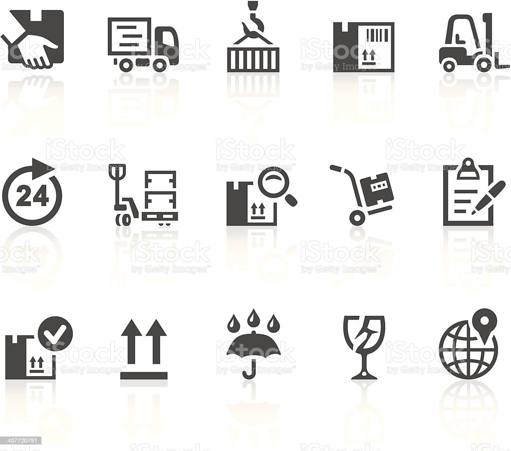 Logistics and shipping icons vector art illustration