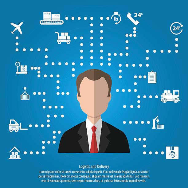 Logistics and Transportation Infographic - ilustración de arte vectorial