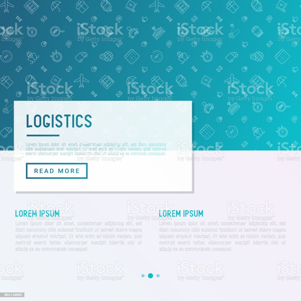 Logistics concept with thin line icons of delivery, box, airplane, train, marine, crane, globe with pointer. Vector illustration for banner, web page, print media. royalty-free logistics concept with thin line icons of delivery box airplane train marine crane globe with pointer vector illustration for banner web page print media stock vector art & more images of 24 hrs
