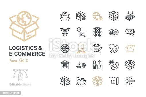 Logistics & E-commerce vector icon set