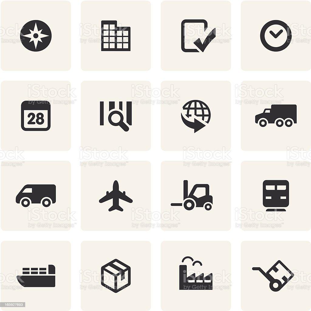 Logistics Icon Set vector art illustration