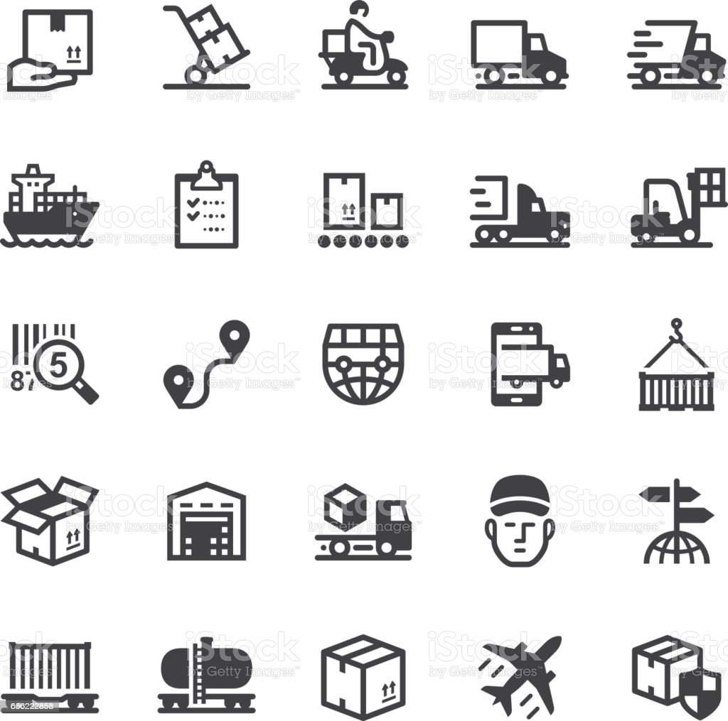 Logistics icons - Black series