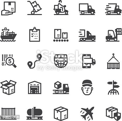 istock Logistics icons - Black series 656222858