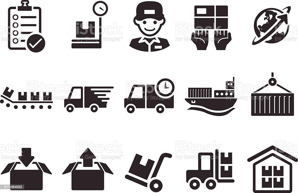Logistics Icons - Illustration vector art illustration