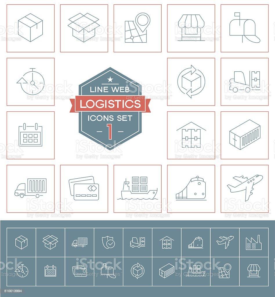 Icônes de logistique série un - Illustration vectorielle