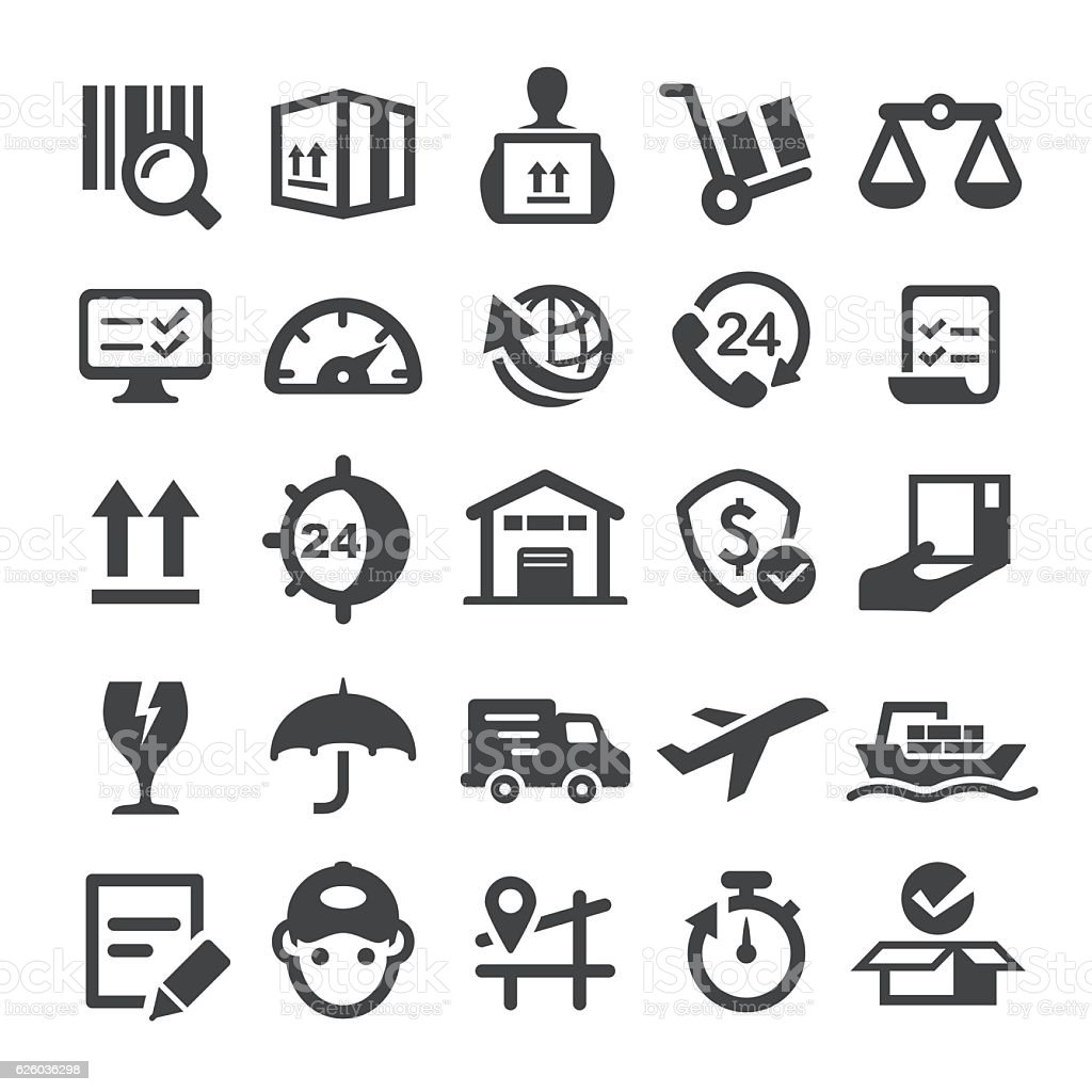Logistics Icons - Smart Series vector art illustration
